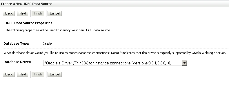 Choose the Database Driver