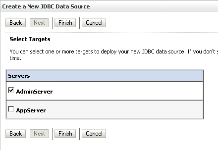 Select Target Server for the Data Source