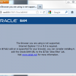 Oracle BAM requires IE 7 or 8