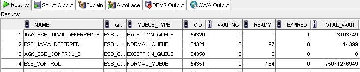 Monitoring AQ query results