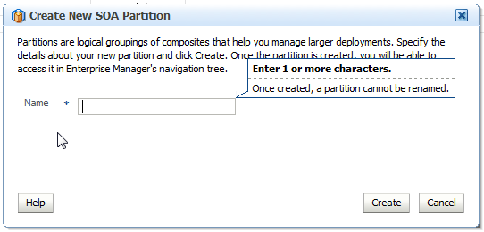 SOA Suite Partition