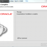 Oracle JDeveloper 11g 11.1.1.6 - Installation Complete