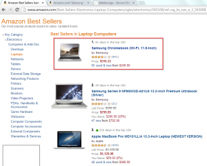 Amazon best sold laptop runs Linux