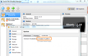 VirtualBox Enable VT-x AMD-V