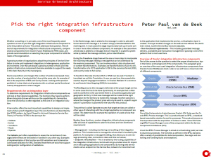 article OTech magazine - integration infra components