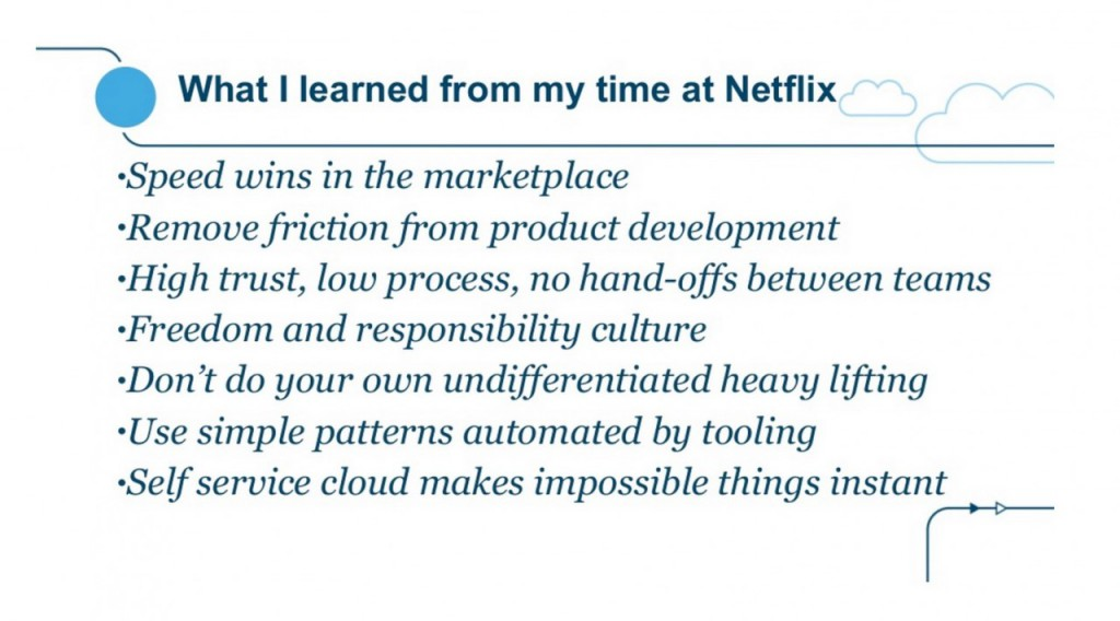 Lessons product development Netflix