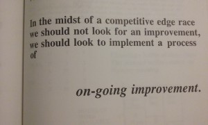 Goldratt - on-going improvement