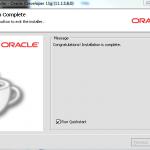 Oracle JDeveloper 11g 11.1.1.6 - Installation Complete